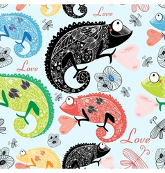 Chameleons patterns vector