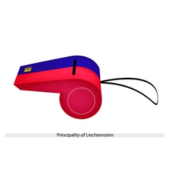 A whistle of the principality of liechtenstein vector