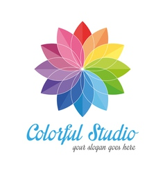 Colorful creative logo vector