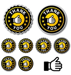 Thank you circle labels vector