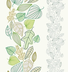 Beautiful spring leaves seamless pattern vector