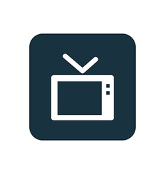 Tv icon rounded squares button vector