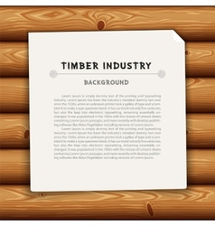 Timber industry background vector