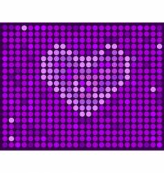 Violet background with heart vector