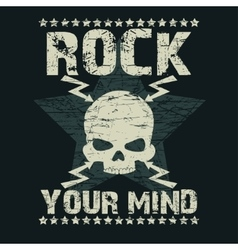 Rock t-shirt typography vector