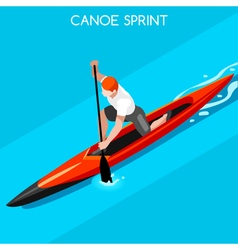 Canoe sprint 2016 summer games isometric 3d vector