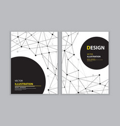 Black network book cover vector