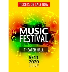 Colorful music festival concert template vector