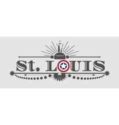 St louis city name with flag colors vector