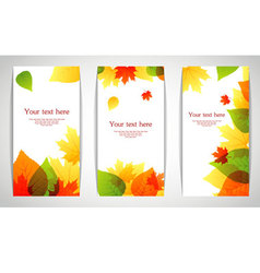 banners autumn leafs vector image