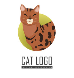 Bengal cat flat design vector