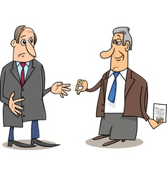 business negotiations cartoon vector image vector image