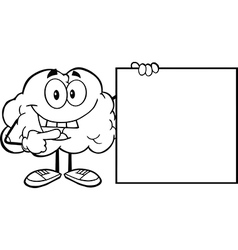 Cartoon brain activity drawings vector image vector image
