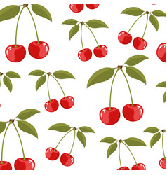 Color background of pattern set cherry delicious vector