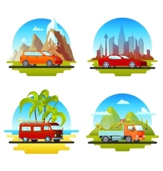 Colorful cars set vector