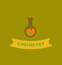 Flat icon on background chemistry lesson vector