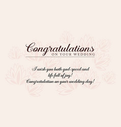 Greeting card wedding style collection vector
