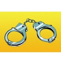Handcuffs arrest crime vector