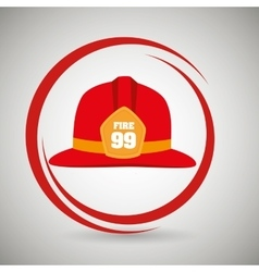 Helmet fire hat icon vector