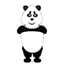 Panda holding a guns vector image
