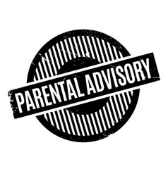 Parental advisory rubber stamp vector