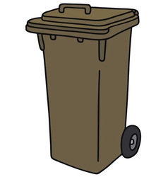 Plastic dustbin vector image