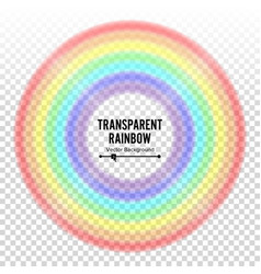 Rainbow circle element color spectrum vector