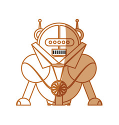 Robot toy cartoon vector