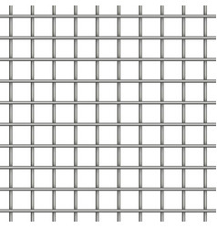 seamless metal grid pattern background vector image vector image