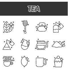 Tea cartoon concept icons vector