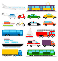 urban transport colored city vector image vector image