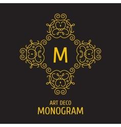 Vintage floral logo floral monogram design vector image vector image