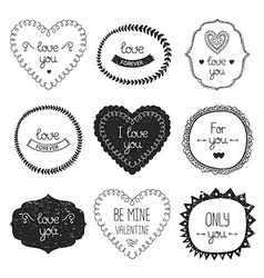Vintage love labels vector