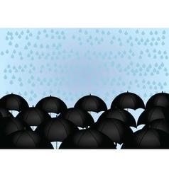 umbrellas and rain drops vector image