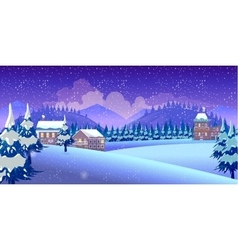 Winter Nature landscape vector image