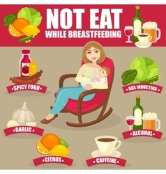 Healthy diet for breastfeeding mothers vector