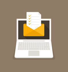 Letter on the laptop vector