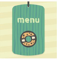 Outline sweet donut icon modern infographic logo vector