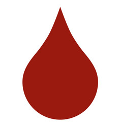 Red blood drop flat icon vector