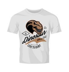 vintage furious dinosaur bikers gang club tee vector image