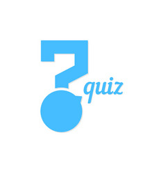 Question mark like quiz button vector