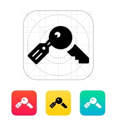 Key with label icon vector
