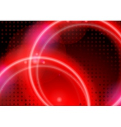 Abstract Neon Circles vector image