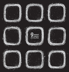 Grunge textured shapes vector image