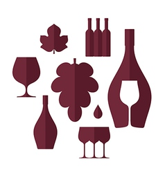 Wine set vector
