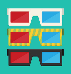 3d glasses of flat vector image