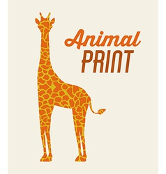Animal Print design vector image
