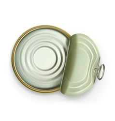 Open tin can top view icon vector