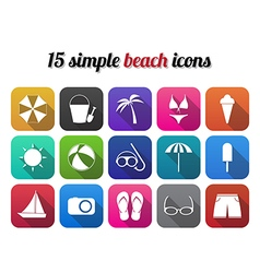 Summer beach icon modern design style vector