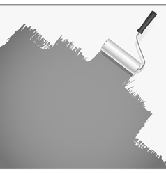 Roller brush painting vector